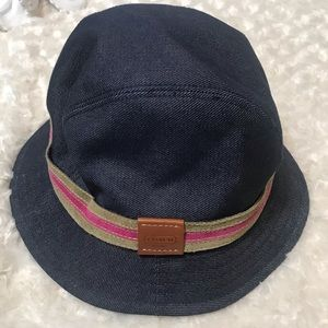 Coach denim bucket hat M/L with Coach accent Logo